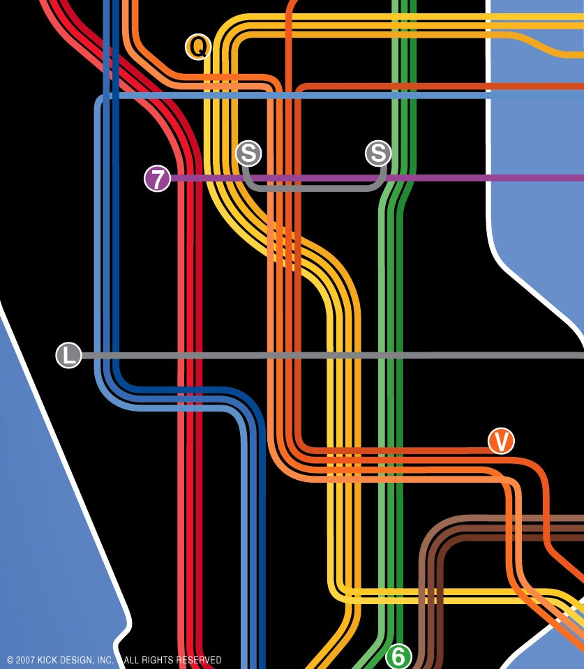 Large Ny Subway Map.Nyc Subway 24 Hour Kick Map On City Go Round