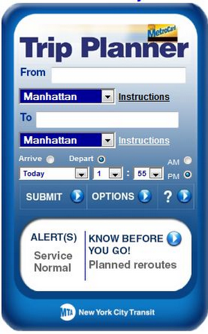 NYC Transit Trip Planner on City-Go-Round
